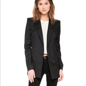 BLK DNM Iconic double breasted blazer black 34 0/2